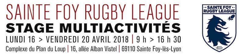 Stage multiactivités : lundi 16 avril > vendredi 20 avril